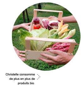 Christelle consomme de plus en plus de produits bio