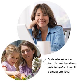 Christelle se lance dans la création d'une activité d'aide à domicile.